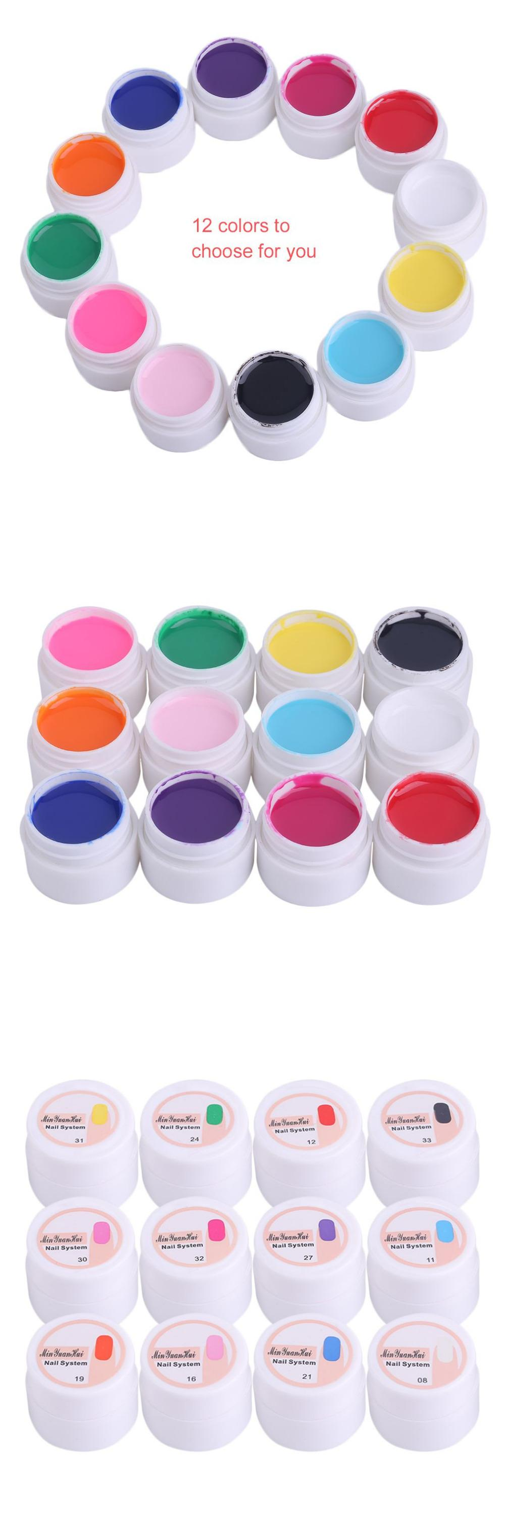 Visit to Buy] Brand Special 5ML 12 Colors/Set Women Nail Beauty Art ...
