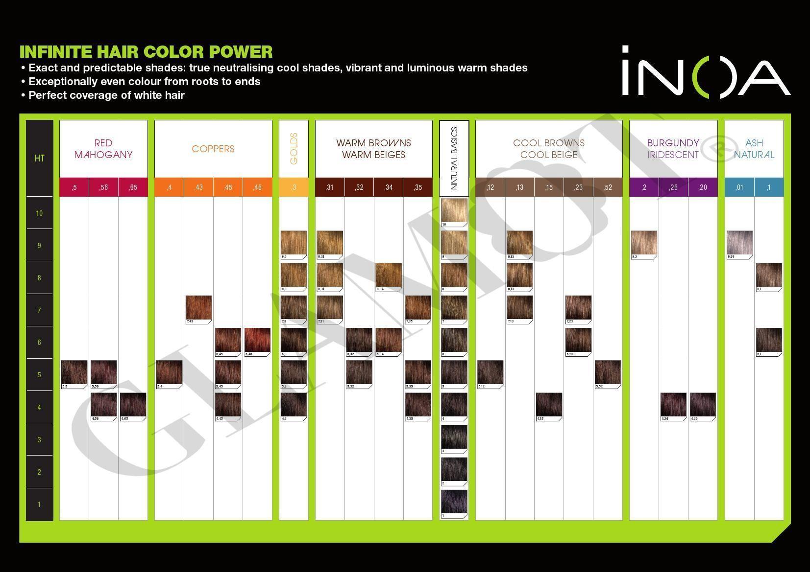 Systematic Loreal Inoa Supreme Color Chart Colour Chart Loreal Inoa Supreme Color Chart Loreal Hair Color Chart Brown Hair Color Chart