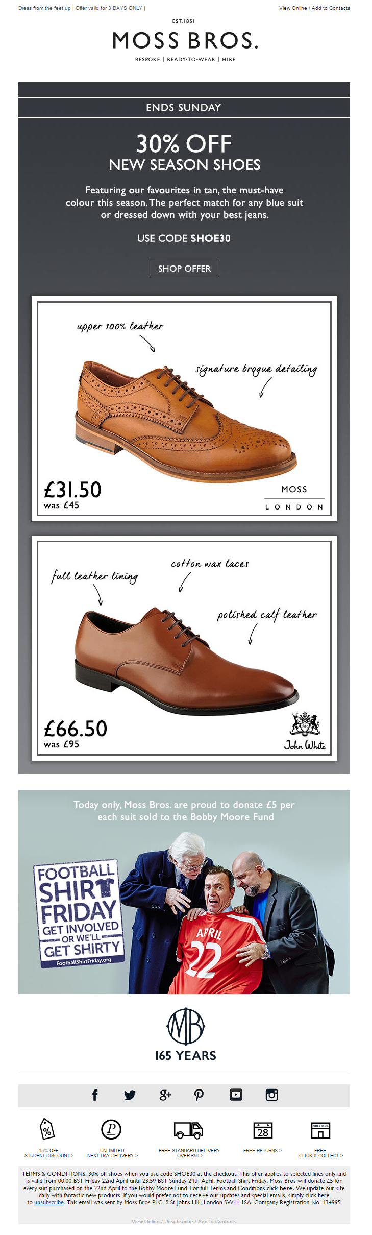 Floor mats uk voucher code - 30 Off New Season Shoes Coupon Code From Moss Bros Emailmarketing Email