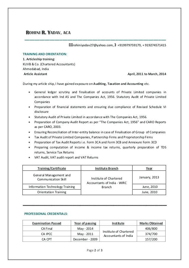 Resume Templates For Articleship 98 Resume Sles For Articleship Make