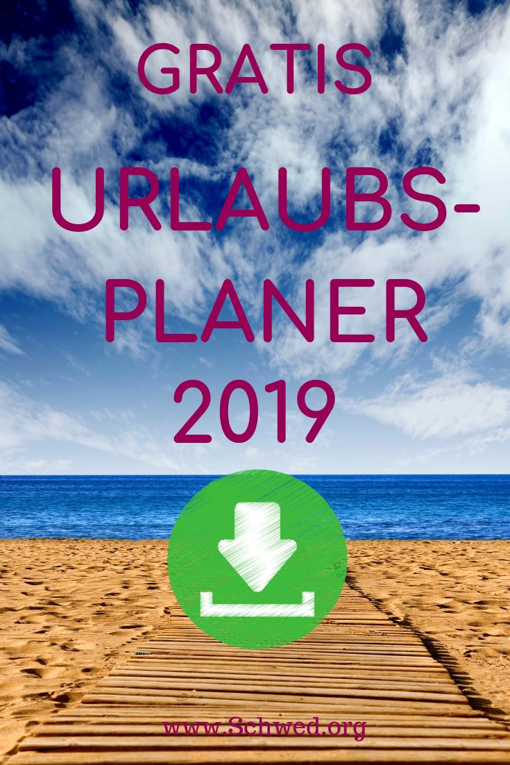 Excel Urlaubsplaner Kostenlose Vorlage Zum Download Anuschka Schwed Excel Tipps Vorlagen Planer