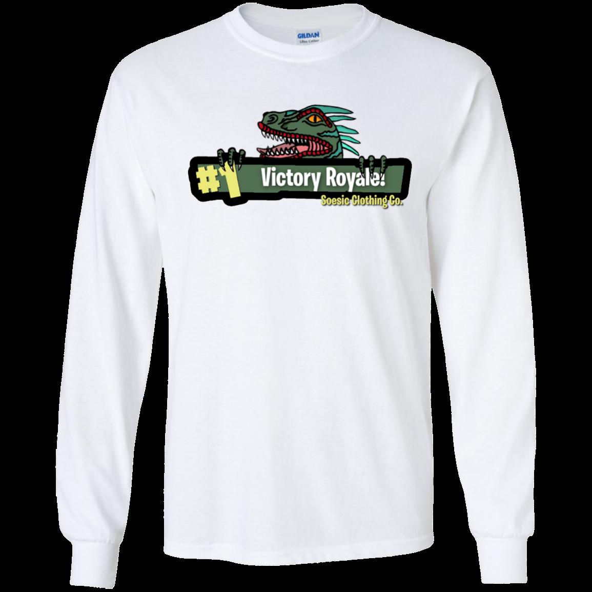 Soesic Victory Royale Fortnite Ls T Shirt Long Sleeve Tshirt Men T Shirt Shirts