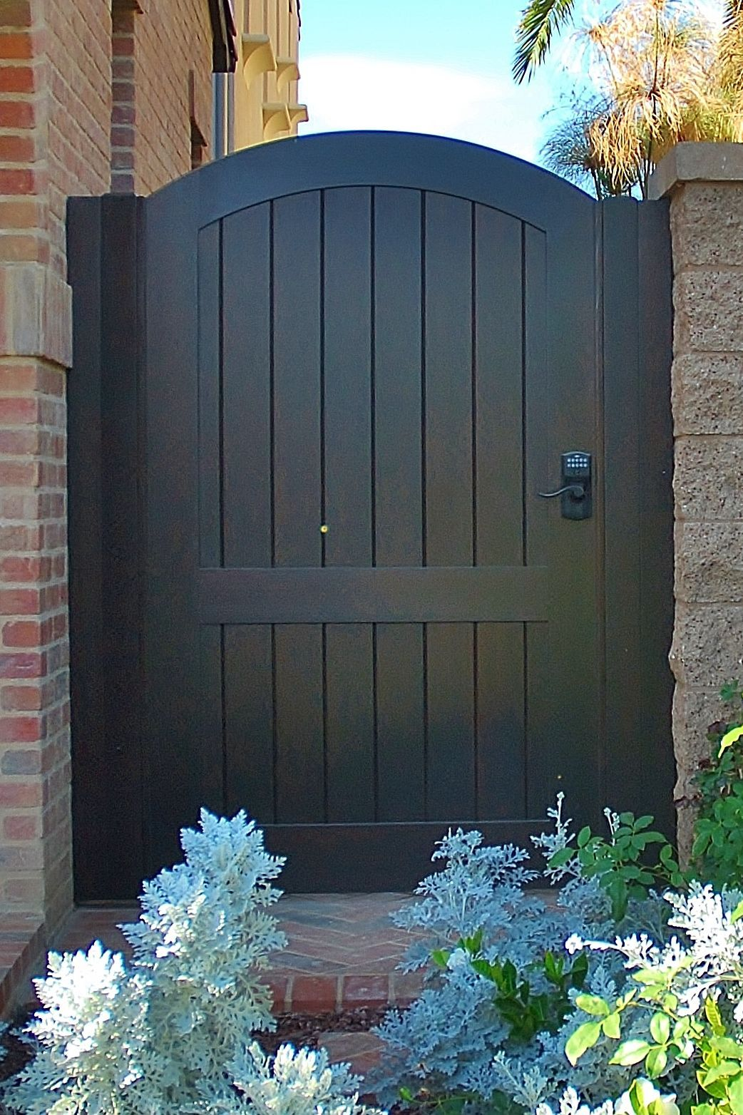 Custom Wood Gate by Garden Passages