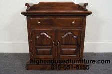 Ethan Allen Antiqued Pine Washstand Nightstand 12 5026 Antiques