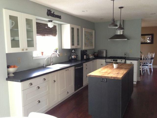no backsplash--looks nice. | kitchen remodel | pinterest