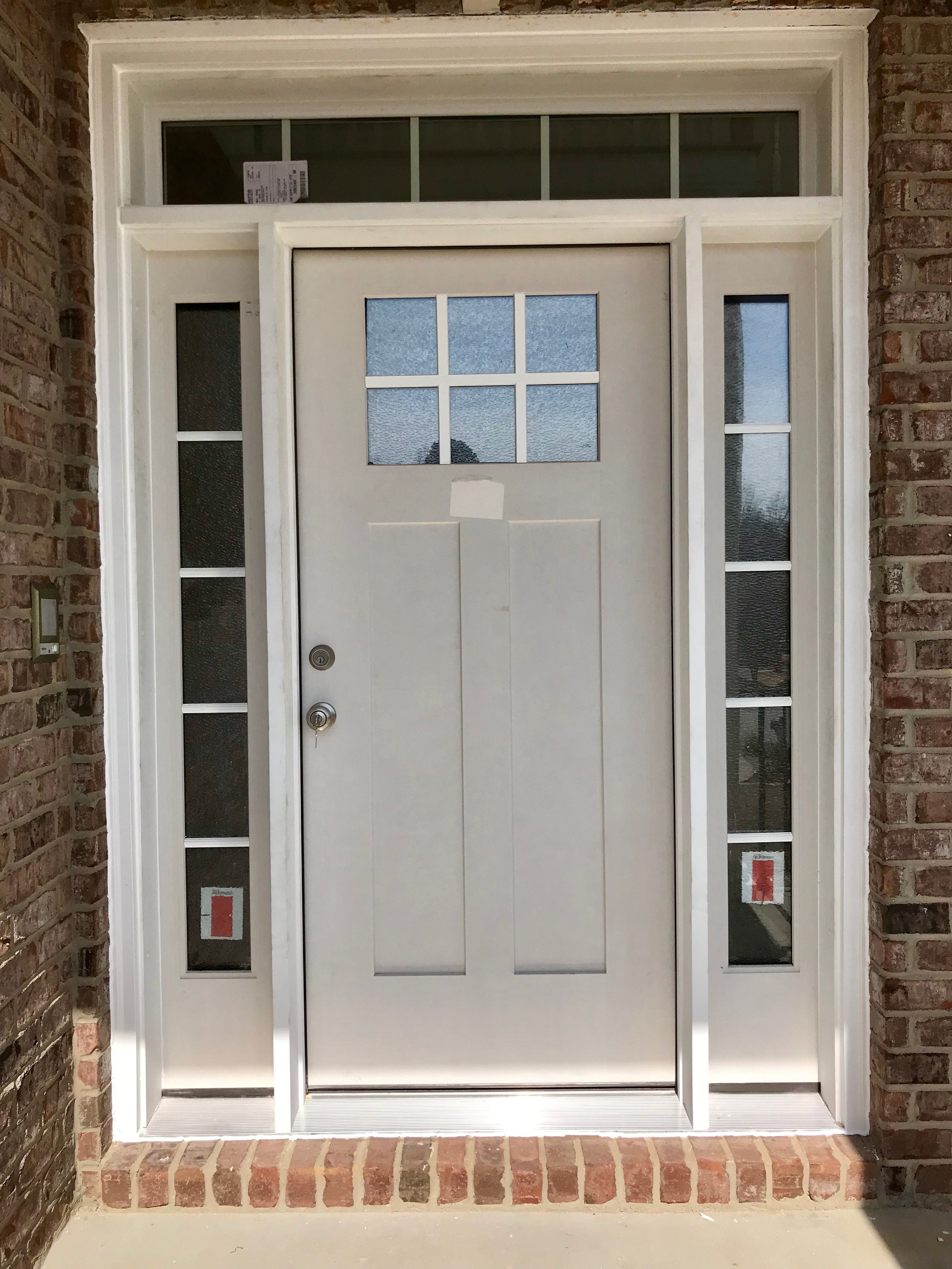 Craftsman Style Custom Entry Door From Therma Tru Installed By