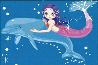 Diy oil painting, paint by number kits for kids - Mermaid 20X30cm. *** See this awesome image @