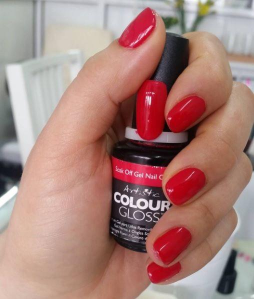 Artistic Colour Gloss Hotzy available at Louella Belle  ArtisticColourGloss   Red  RedNails  NailArt  Nails  Manicure  LouellaBelle f0a35cc29e6