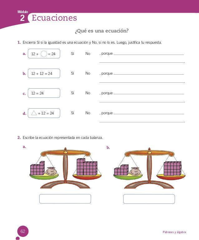 Resultado de imagen para prueba 3° basico matemática ecuaciones y ...