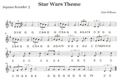 Third Street Music Recorder Ensemble Star Wars Second