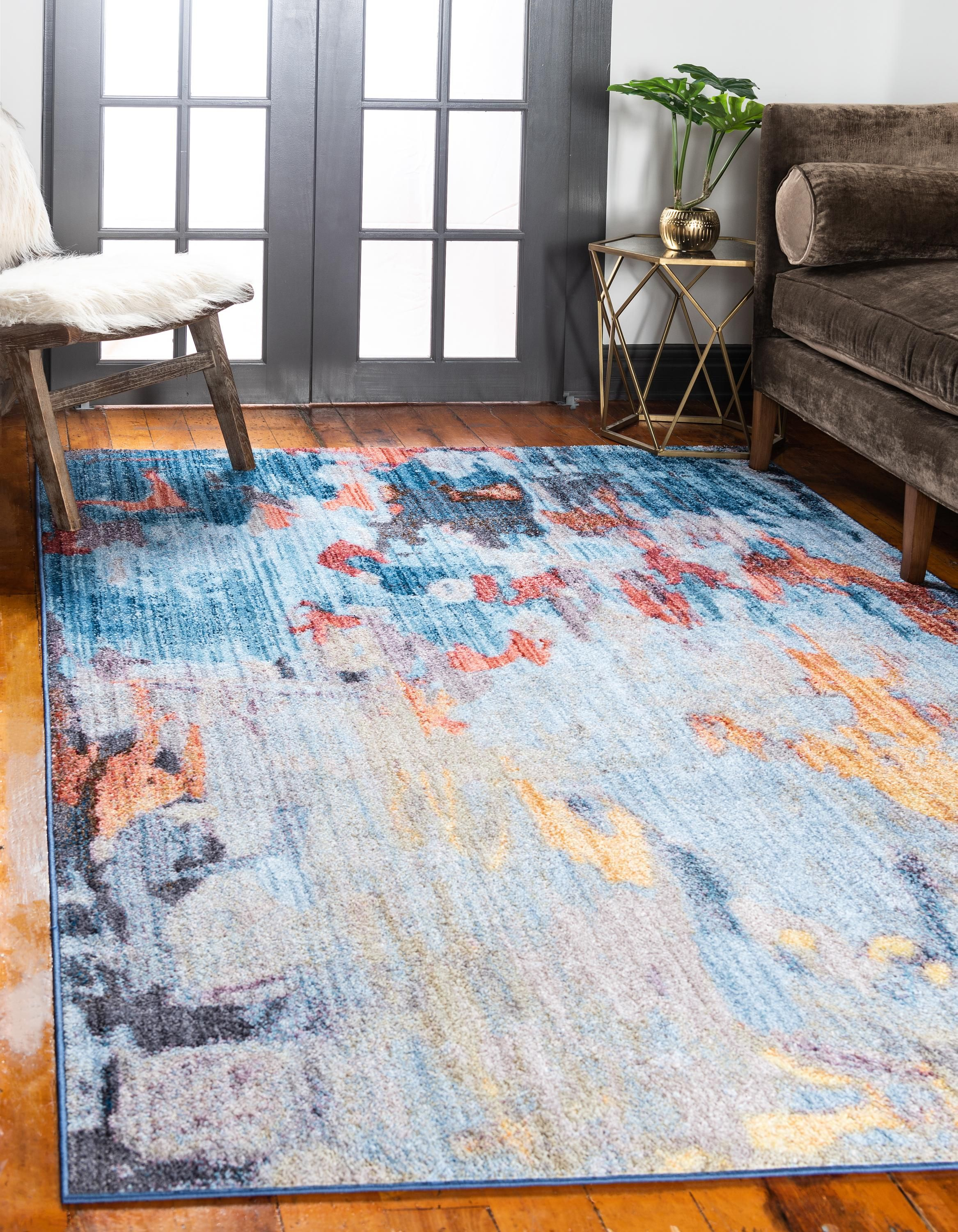 Multicolor Jill Zarin 5 X 8 Downtown Collection Rug Rugs Com Rugs In Living Room Room Rugs Blue Gray Area Rug
