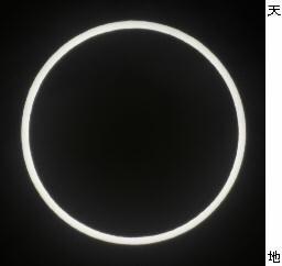 東京都墨田区で観測された金環日食=21日午前7時34分