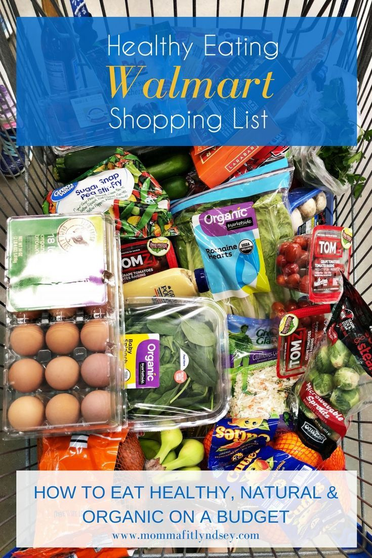 Healthy Walmart Shopping List for Organic and Clean Eating