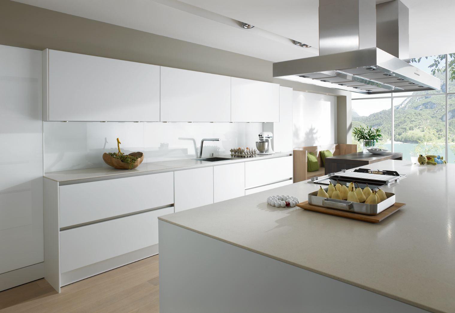 cucina componibile laccata con isola s2 collezione smartdesign by ... - Cucina Bianca Con Isola