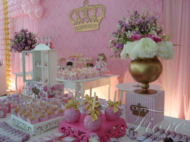 Festa Tema Boneca Princesa Floral Ana Gabriela 1 Aninho Festa