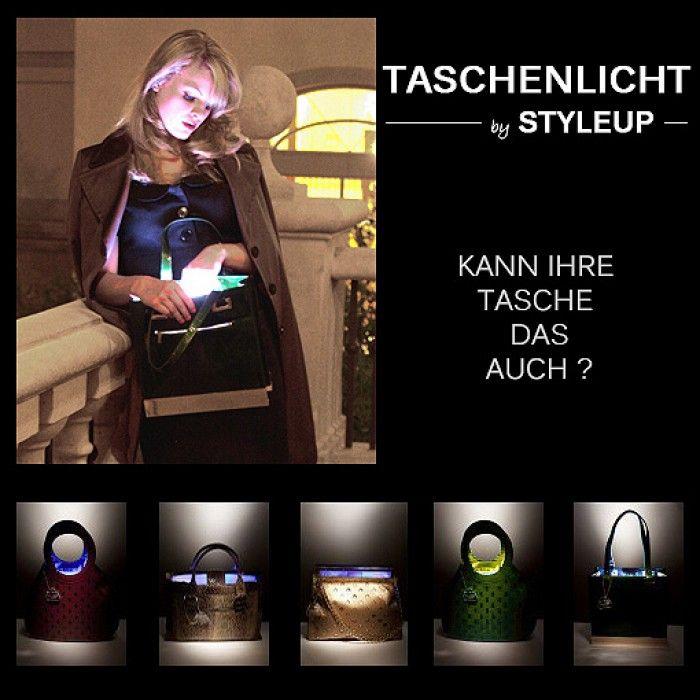 Taschenlicht Handtaschenlicht Lich für Taschen Handtaschen Ledertaschen LED Infrarot www.styleup.eu