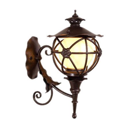 Spanish inspired hand forged outdoor sconce with scrolled accents spanish inspired hand forged outdoor sconce with scrolled accents and satin pearlescent glass shade aloadofball Images