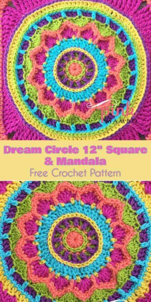 Dream Circle 12 Square And Mandala Free Crochet Pattern Crochet