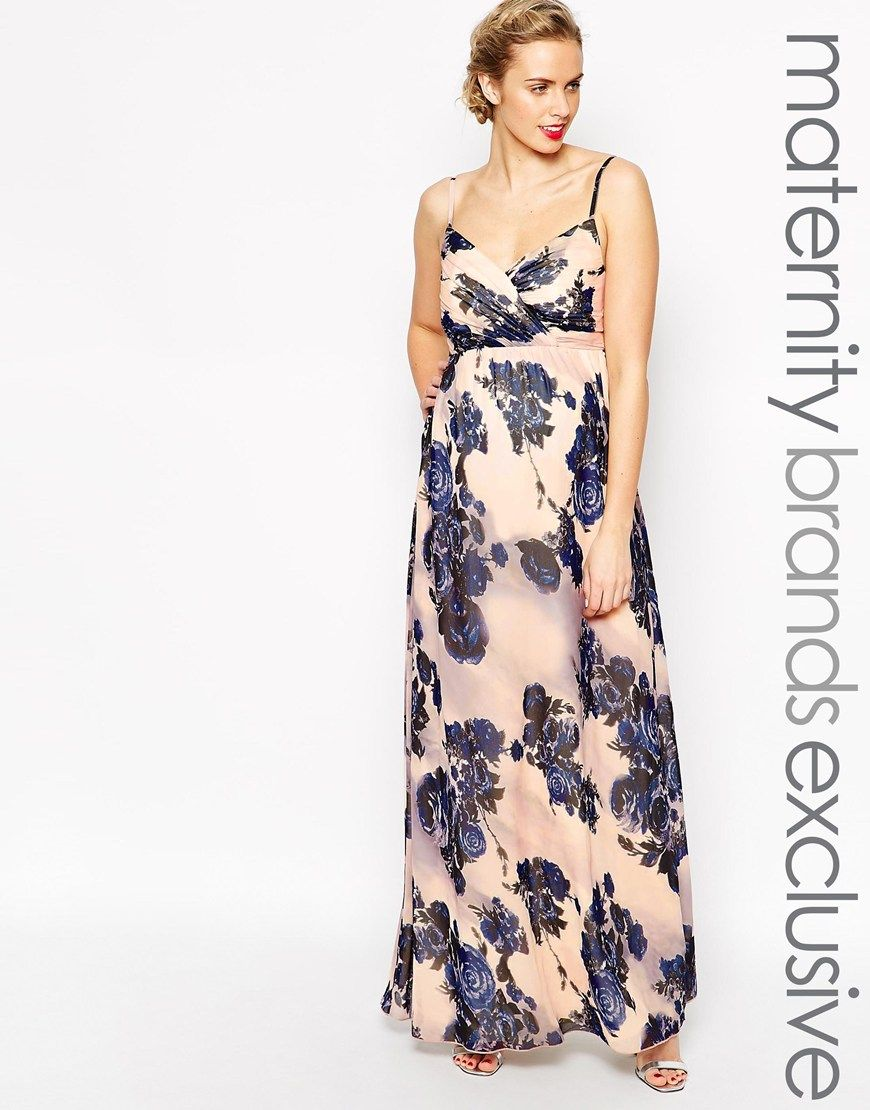 Image 1 of little mistress maternity navy floral print maxi dress image 1 of little mistress maternity navy floral print maxi dress ombrellifo Gallery