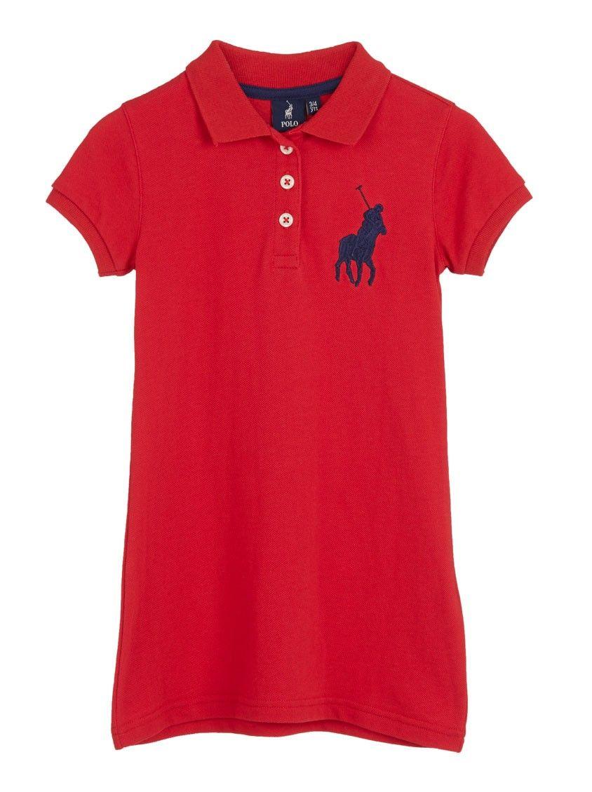 Pique dress Red