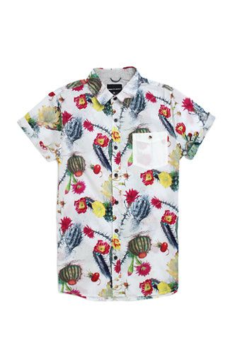 d1bc8a044f23 PacSun presents the Modern Amusement Cactus Pete Short Sleeve Woven Shirt  for men. This comfortable