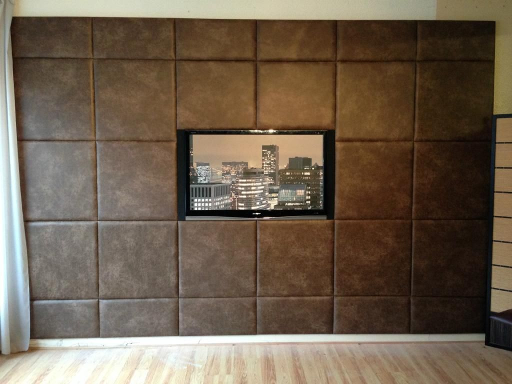 Acoustic padded wall panels feature wall custom size - Wall design for living room philippines ...