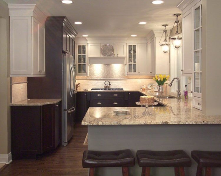 Two Tone Kitchen Cabinets Ideas For Inspired Your Home Pinterest