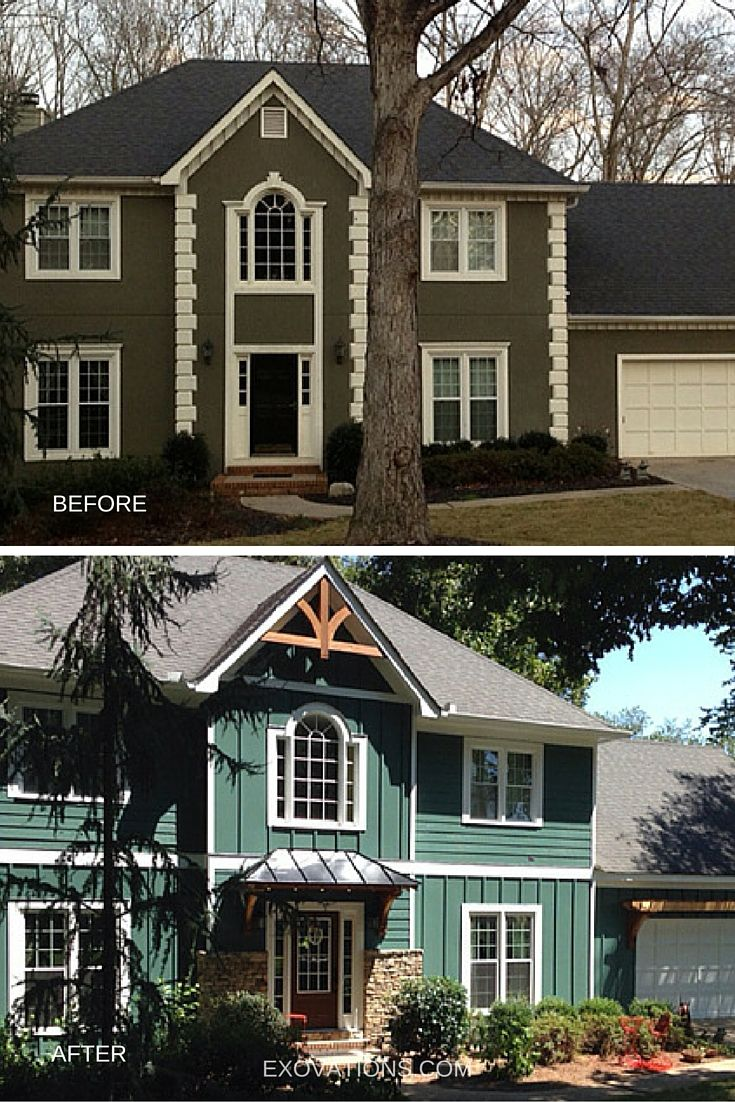 Before After House Facelift Photos Stucco Homes Home Remodeling Contractors House Exterior