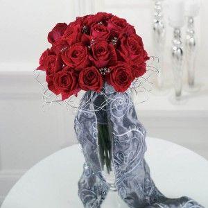 Red Bridal Bouquet (BW46-11), Wedding Flowers Phoenix, Phoenix Weddings & Wedding Planner Florist , Wedding Flowers.
