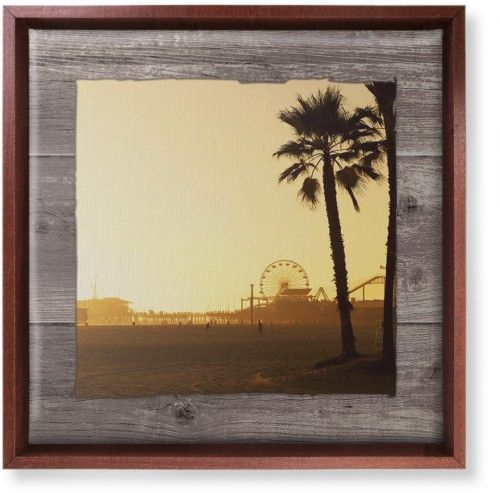 The Boardwalk Canvas Print, Brown, Single piece, 12 x 12 inches, Brown