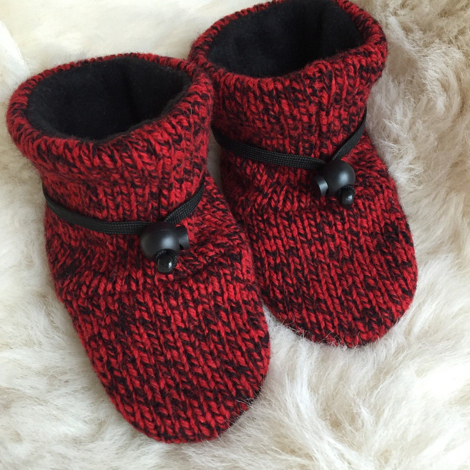 Wool baby shoes non slip soft sole shoe baby boy or baby girl in