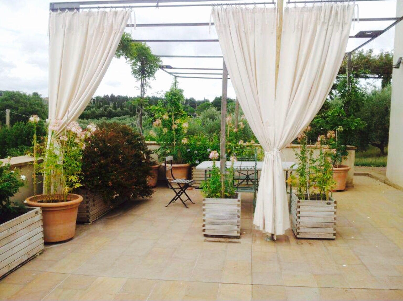 Tende in tela di puro cotone per terrazza | tende terrazzo | Pinterest