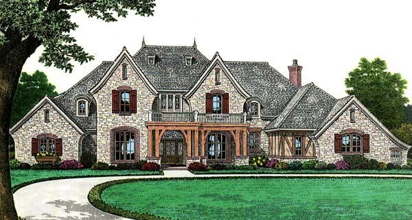 House Plan Chp 41574 At Coolhouseplans Com Country Style House Plans French Country House French Country House Plans