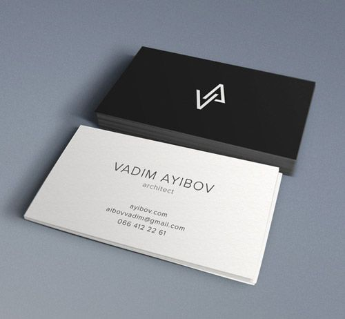 33 Slick Business Card Designs For Architects Com Imagens