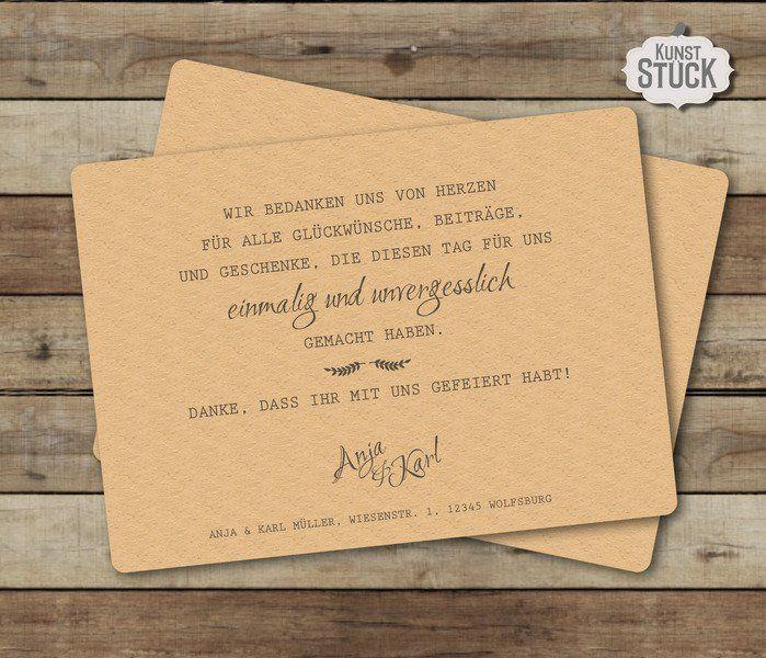Euer schönster Tag ist vorbei - jetzt gilt es, sich bei euren Gästen zu bedanken...  Diese Danksagungskarte im DIN-A6 Format ist mit den abgerundeten Ecken ein echter Hingucker.   Sie ist... #20thanniversarywedding