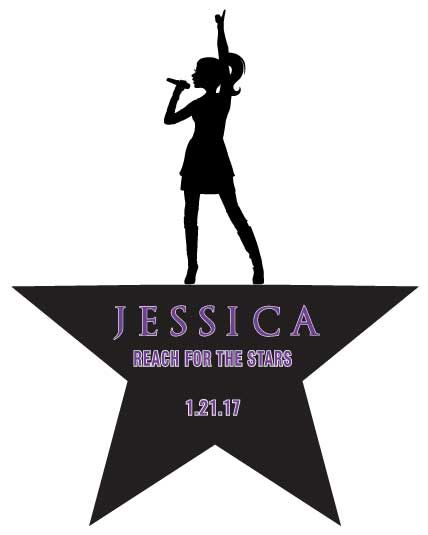 Jessica S Hamilton Inspired Bat Mitzvah Logo Bar Logos In 2019 Decorations Themes Party
