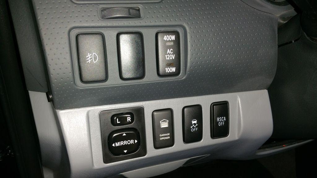 Oem Looking Garage Door Button Opener Hack Tacoma Trd