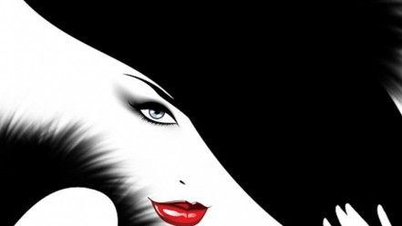 Black White Red Lips Wallpaper Black And White Lip Wallpaper