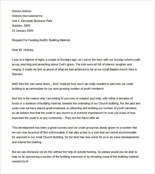 sample fundraising letter for church plant word formatg related - donation letter example