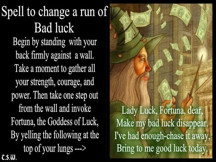 Image result for spell to remove bad luck | spells | Luck