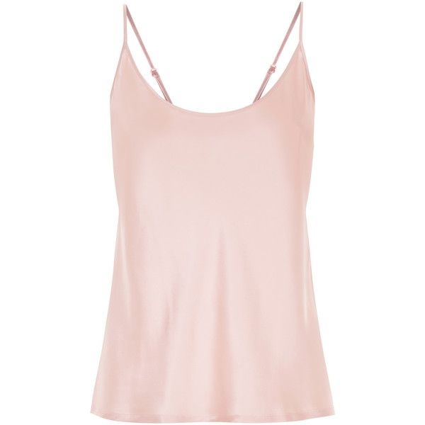 La Perla Silk Silk Satin Camisole Top (495 BRL) ❤ liked on Polyvore featuring tops, pink, pink silk top, tulip top, pink camisole top, silk satin camisole and silk cami tops