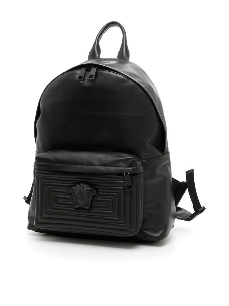 5868e10bbc70 VERSACE Maze Quilt Nappa Palazzo Backpack.  versace  bags  leather  lining   backpacks