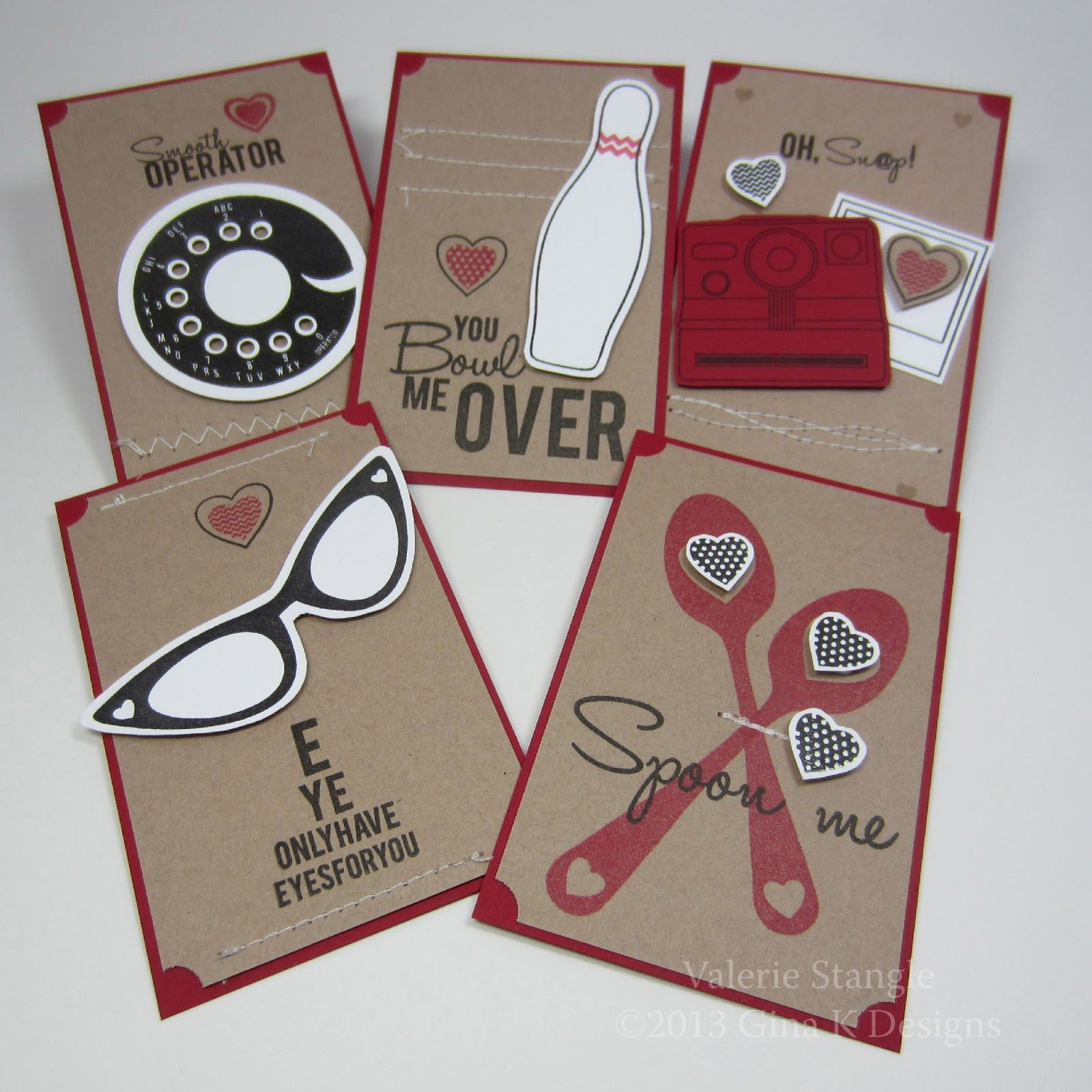 Cute valentines created by Valerie Stangle.