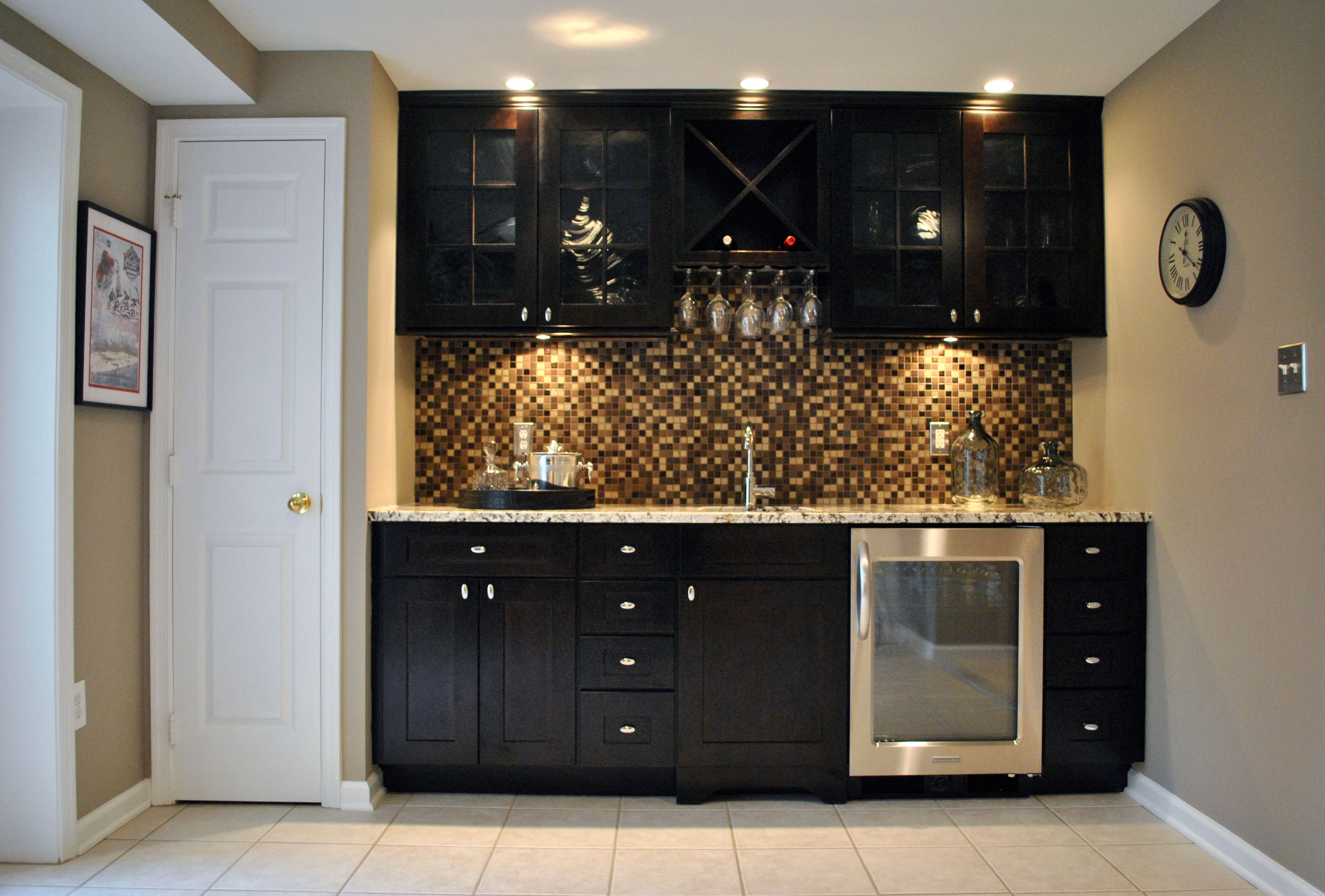 Contemporary Wet Bar Design And Install, Herndon, Virginia