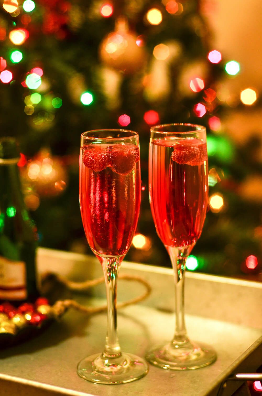 Raspberry Sparkling Wine Or Champagne Drink Recipe Champagne Drinks Sparkling Wine Champagne