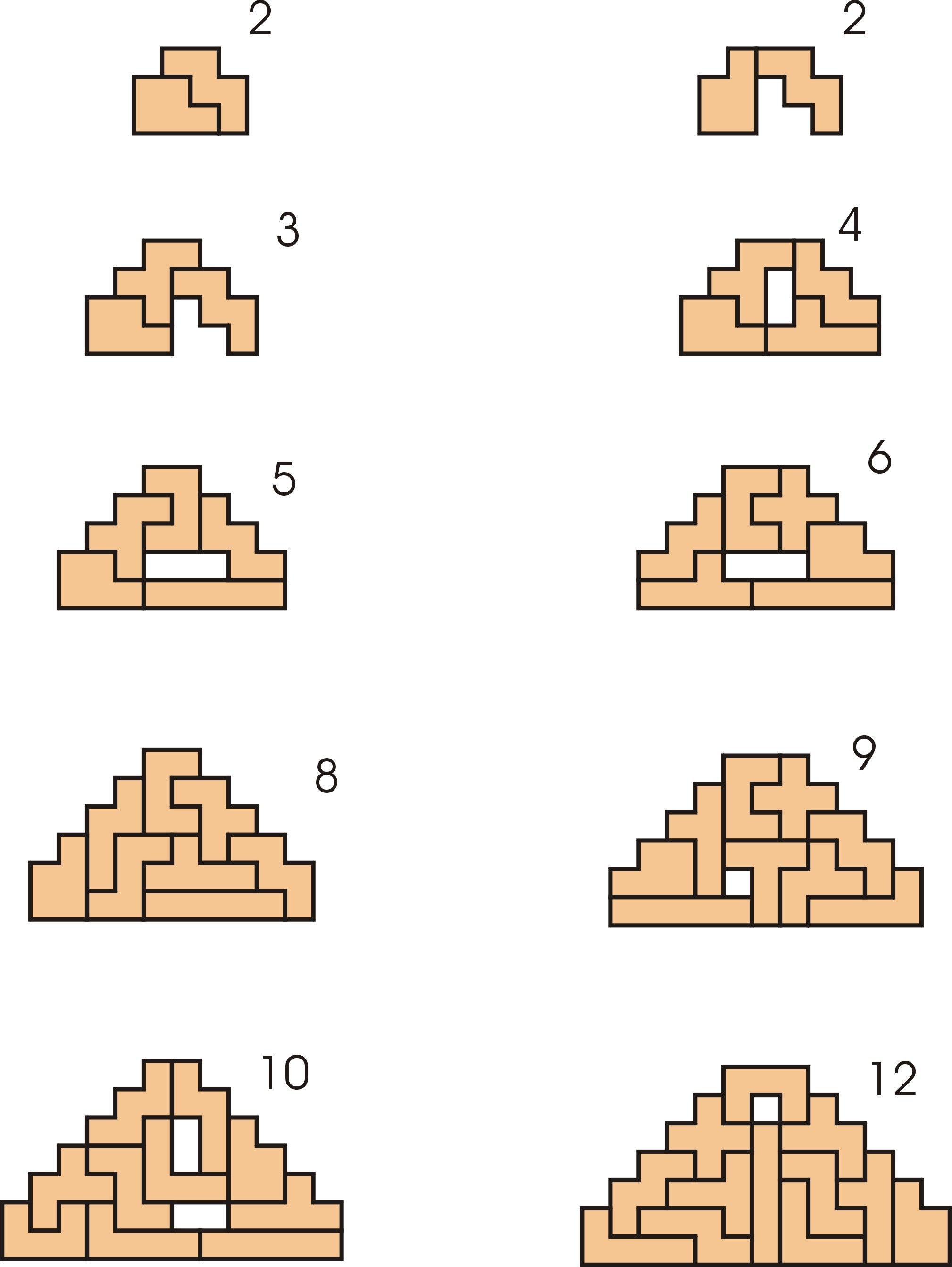 Pyramids With Blunted Points Using One Set Of Pentominoes