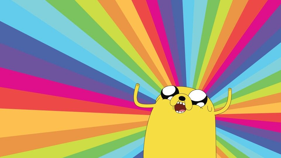 Jake The Dog Adventure Time Wallpaper Rainbow Wallpaper Backgrounds Rainbow Wallpaper