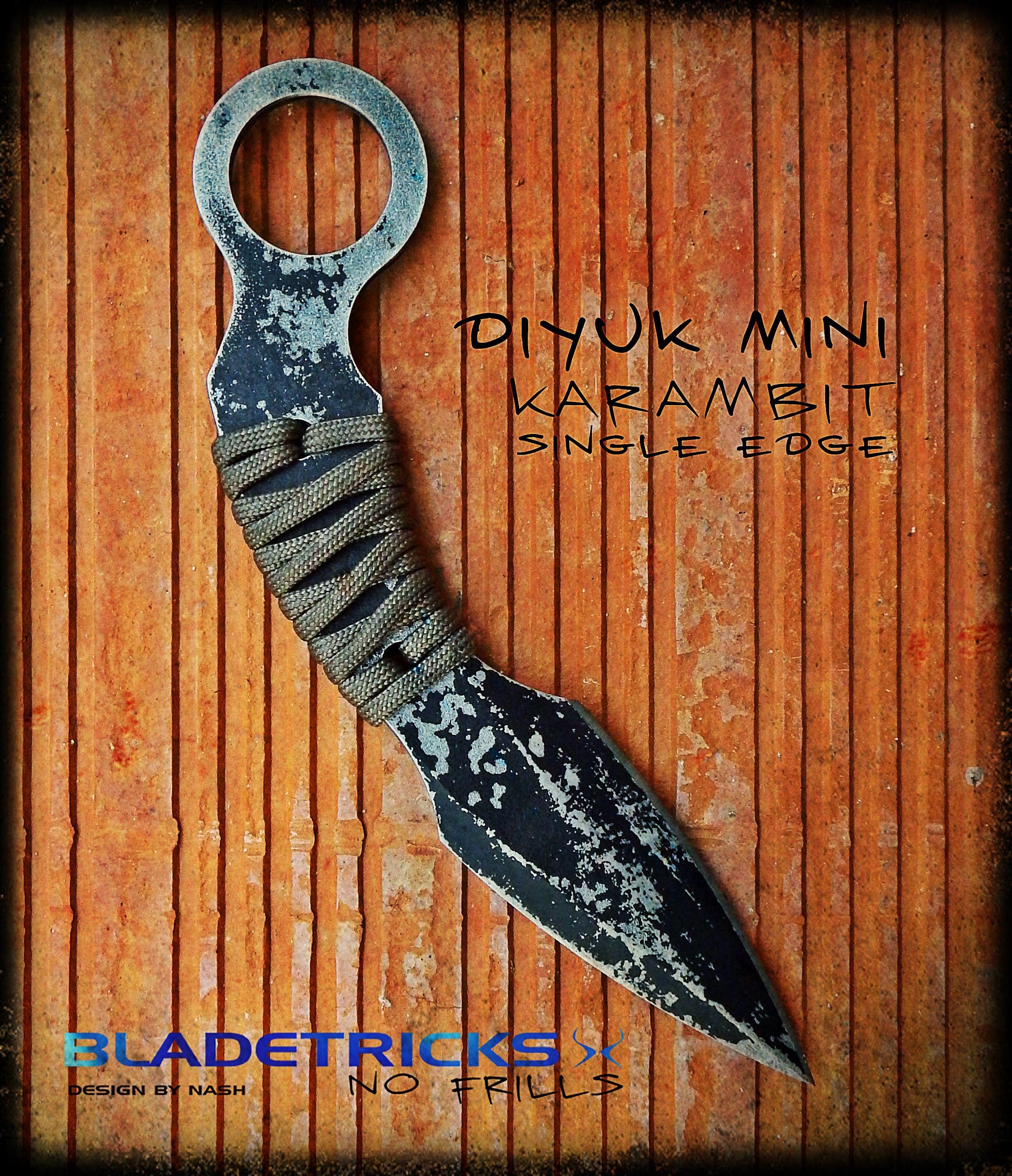 knifemaker Nash Custom handmade fighting karambit dagger false edge