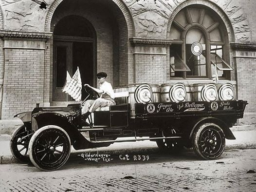 Dr. Pepper delivery in Waco, undated.  This was taken by famous Waco photographer Fred Gildersleeve and is part of Baylor University's exceptionally fine Texas Collection.