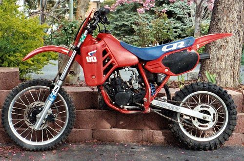 Honda CR 80 - just the right size for fun :) #Honda #CR80